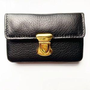 Black leather business card case / wallet